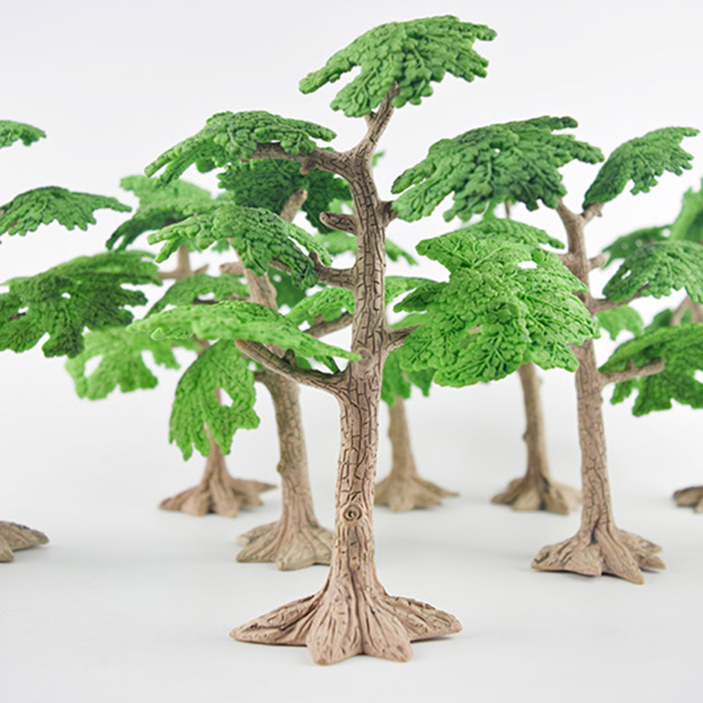 Miniature Mini Exquisite Garden Pine Trees Mini Plants Dollhouse Decor Accessories Gardening Ornament Model Educational Toys