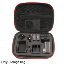 Camera Bag Protective Case Organizer Zipper Closure Solid Waterproof Artificial PU Portable Storage Box For DJI Osmo Action(China)