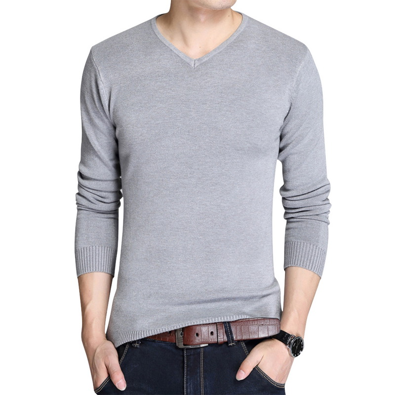 MoneRffi New Sweater Men Autumn Winter Warm Men Knitted Cotton Sweaters Solid Color Casual O-Neck Pull Homme Cotton Pullover Men