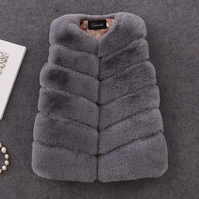 2019 nova moda inverno meninas casacos de pele grosso quente do falso colete de pele com decote em v curto colorido colete para 12m-16y roupas vw020
