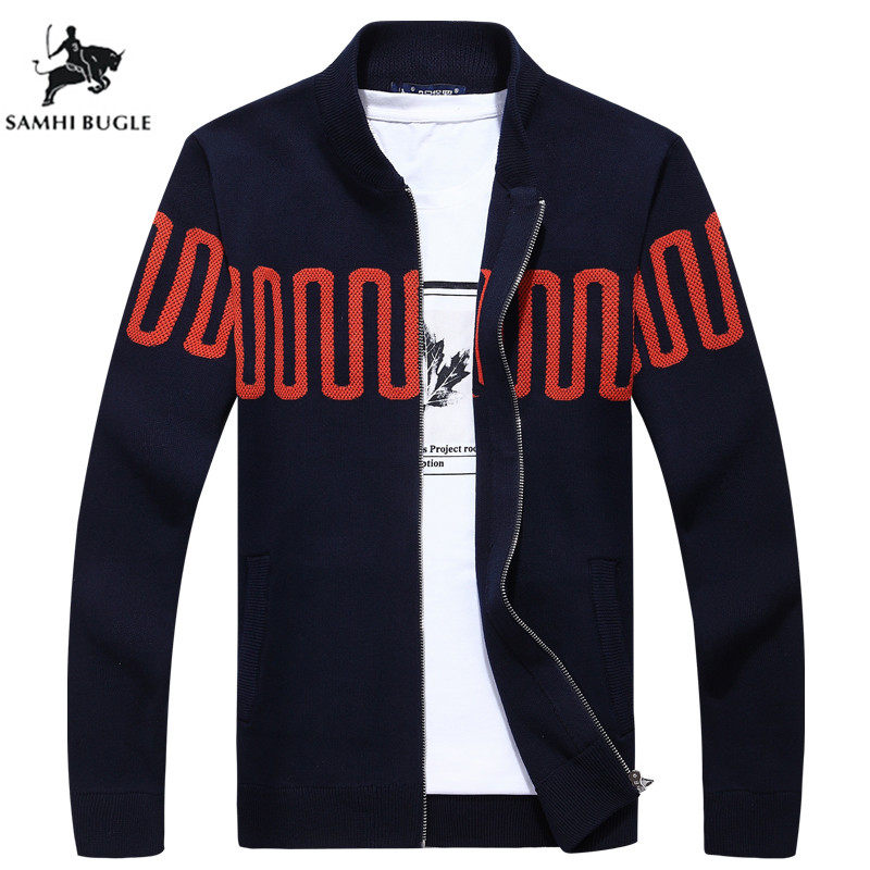 Mens Sweaters for 2019 Men's Cardigan Coat Mandarin Collar Casual Clothes For Men Zipper Sweater Male Warm Knitwear Sweaters