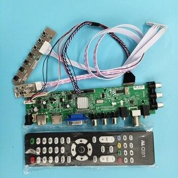 Kit For LP156WF1-TLF3 1920X1080 Signal remote controller board digital DVB-T DVB-T2 40pin VGA AV LED TV LVDS USB HDMI WLED