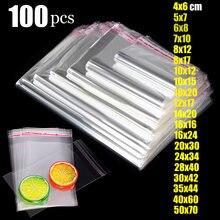 Прозрачный самоклеящийся мешок Пластик Виолончель целлофан самоуплотняющийся