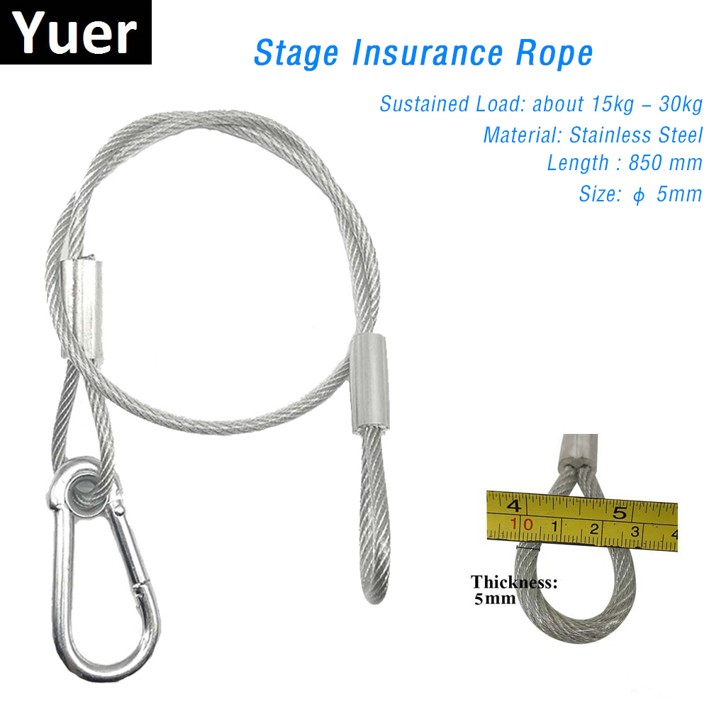 85CM Safety Cable Steel Wire Stage Light Safety Ropes Security Cable Equipment Bar DJ Disco Party Show Led Moving Head Par Light