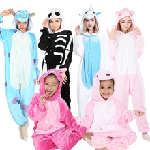 KIGUCOS pyjama dhiver Animal, tout en un, pour femme, tenues de dessin animé, Costumes dinosaure pour enfants, vêtements de nuit licorne