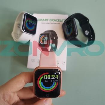 D20 Bluetooth Smart Watches Men Waterproof Sport Fitness Tracker Smart Bracelet Blood Pressure Heart Rate Monitor Y68 Smartwatch 4