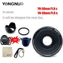 Объектив YONGNUO YN50mm YN50 F1.8 EF EOS 50 мм, AF MF для камер Canon Rebel T6 EOS 700D 750D 800D 5D Mark II IV 10D 1300D