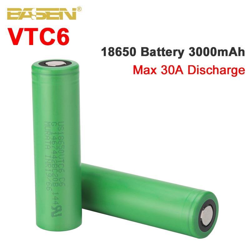 Basen VTC6 18650 3000 мАч батарея 3,7 В 30A с высокой разрядкой 18650 аккумуляторные батареи для US18650VTC6 фонарик инструменты батарея| |   | АлиЭкспресс - Компьютеры и техника
