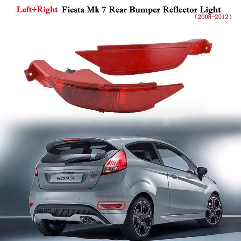 Rear Bumper Protector for Fiesta VI 2008-2017 Chrome Stainless Steel Protection for Cargo Carrier Edge