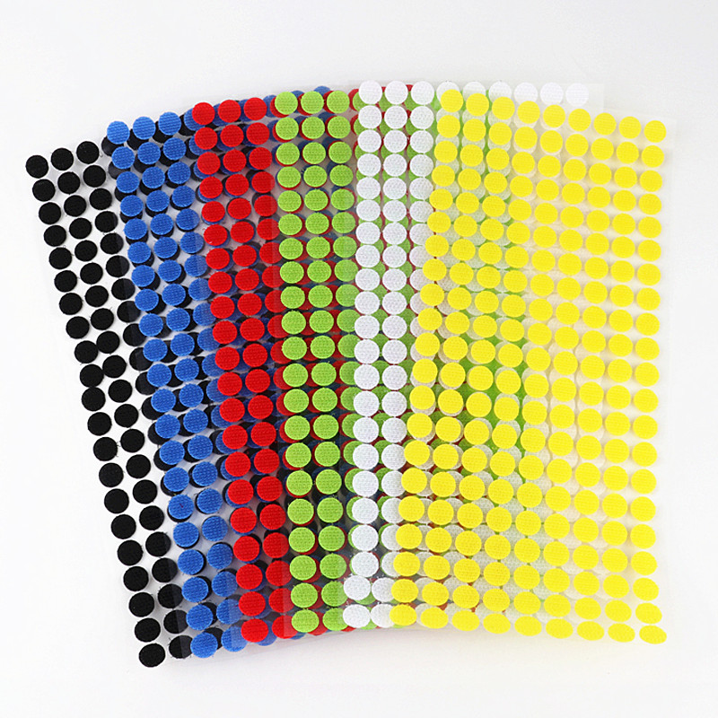 15mm Hook And Loop Magic Tape Velcros Dots Stickers Self Adhesive Tape Colors Nylon Fastener Boob Tape Klittenbandsluiting Tape