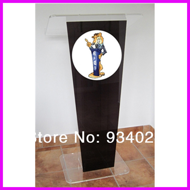 Durable Acrylic Podiums Pulpits With Logo Plexiglass