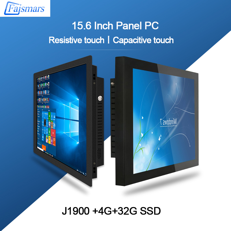 Faismars Wall Mount 15.6'' Tablet PC Intel J1900 Industrial All In One PC Capacitive/Resistive Touch Screen Computer