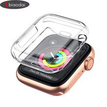 cases for apple watch 4 case iWatch band 44mm 40mm 42mm 38mm waterproof Ultra-thin Screen protector cover for apple watch 4 3 2 стоимость