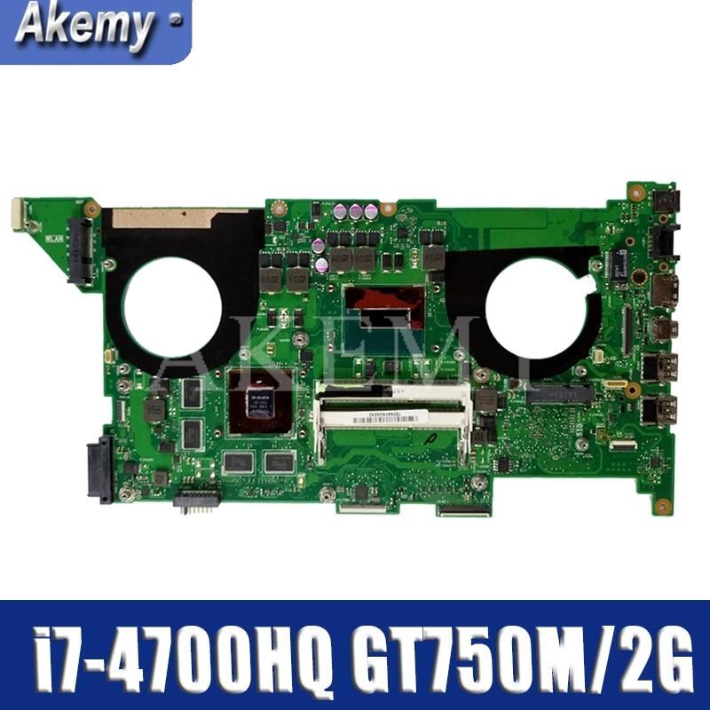 N550JV Motherboard I7-4700HQ GT750M/2G N550JV REV:2.0 Mainboard For ASUS Q550JV N550J N550JV N550JK Laptop Motherboard Tested