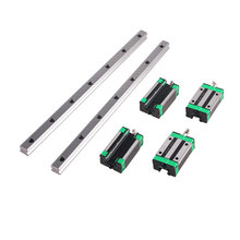 HGR20 HGR15 CNC Square Guide Linear Rail 2PCS ANY LENGTH + 4PCS HGH15CA / HGH20CA Slide Block Carriage for CNC Router Engraving
