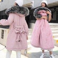 Стиль, хлопковое пальто, женская длинная толстая Парка выше колена, зимнее пальто плюс бархат, корейский стиль, хлопковая стеганая куртка, Loos