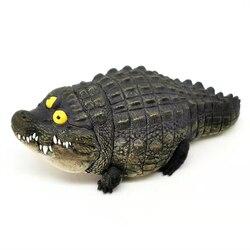 Genuino utópico creación grasa de cocodrilo resina versión tío Erma computadora de escritorio decoración regalo