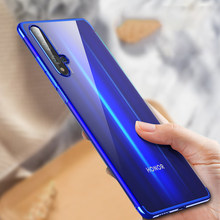 Electroplate TPU Soft Case For Huawei Honor 20 Pro 9X Nova 5 Pro 5i P20 Lite Y9 Prime 2019 Mate 30 Lite P Smart Plus Clear Cover(China)