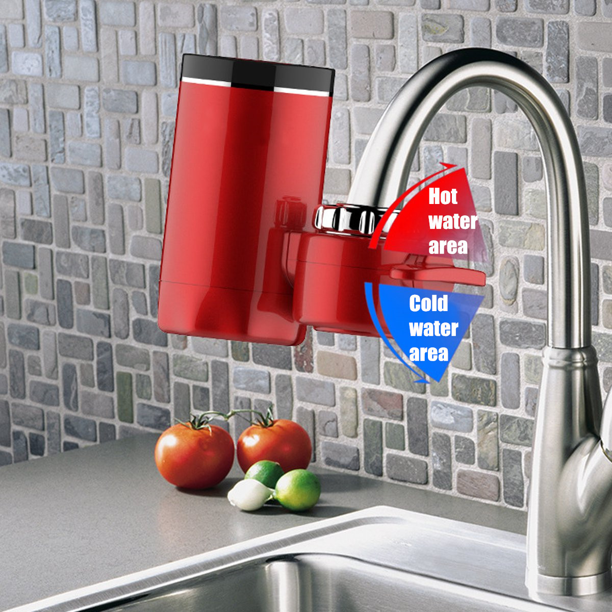 Kitchen Faucet Instant Hot Water 3000W Digital LCD Display Electric Faucet Water Heater Electric Tankless Fast Heating Water Tap