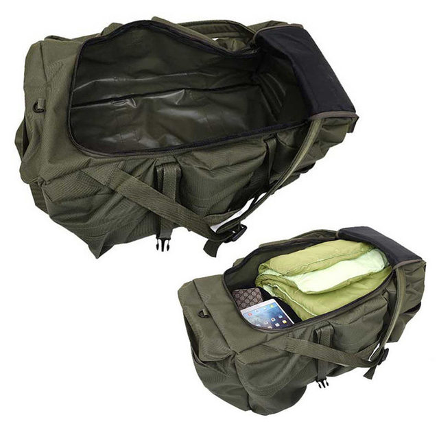 90L Large Capacity Men's Travel Bags Canvas Military Tactical Backpack Waterproof Hiking Climbing Camping Rucksack Bags XA216K 4