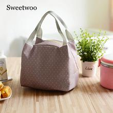 Outdoor Camping Lunch Bag Thermal Food Lunch Picnic Bag Women Cooler Insulated Lunch Thermal Bags Picnic Basket Cooler Box jeebel 18l double deck outdoor picnic basket bag storage thermal bag handbags shoulders camping cooler tote thermo