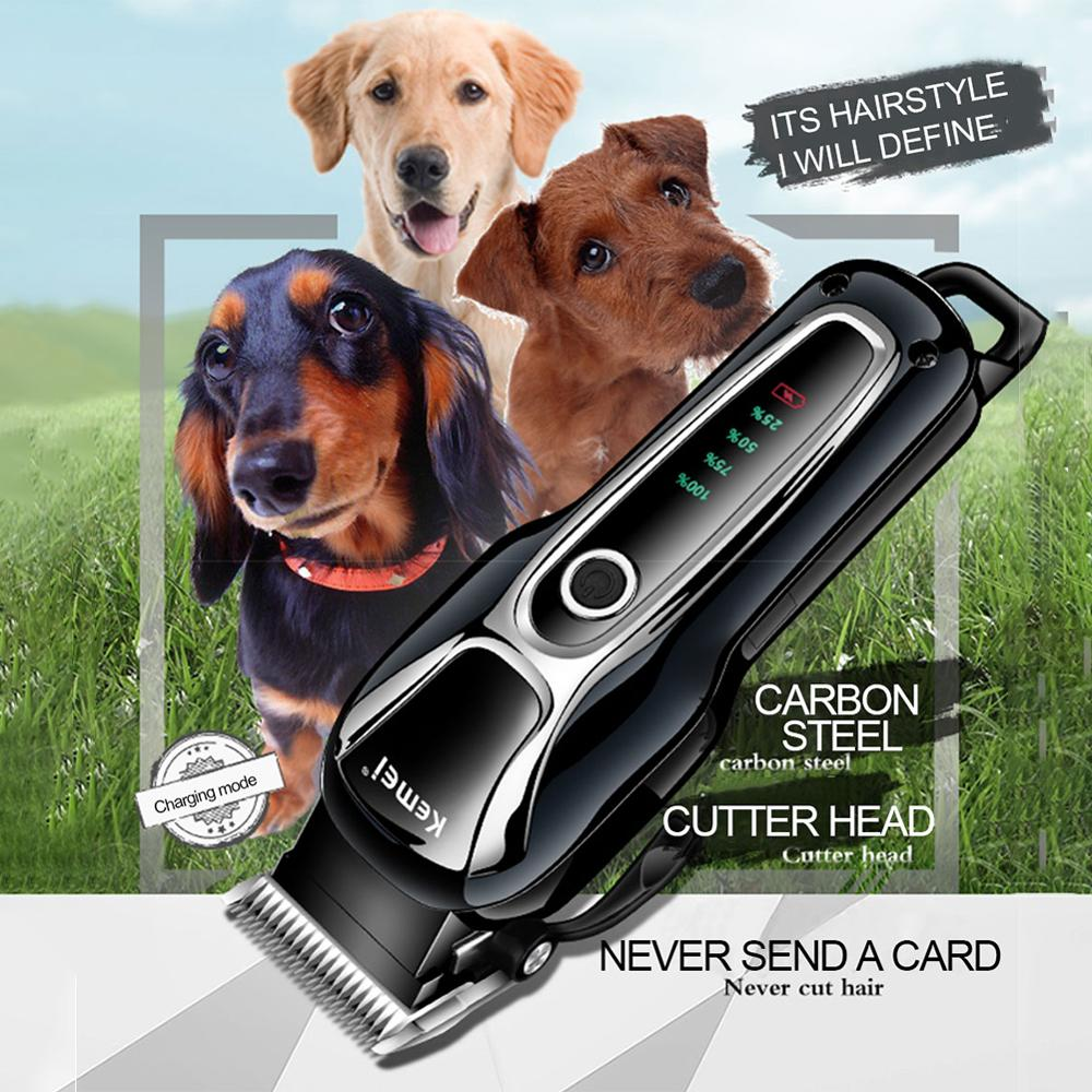 Electrical Pet Hair Trimmer Rechargeable Pet Dog Cat Professional Low-noise Pet Grooming Hair Shaver Electric Scissor Clipper