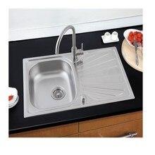 Kitchen Sink Above Counter Or Udermount Vegetable Washing Basin Sink Kitchen Black Stainless Steel Seamless Welding Pia HWC