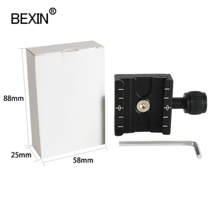 Image 5 - QR 50 Aluminum Alloy Camera Quick Release Clamp Mounting Adapter Clip With PU50 Plate For Tripod Ball Head Arca Swiss Camera