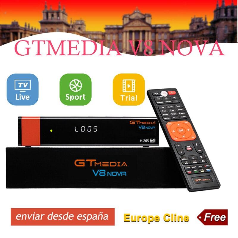 Freesat v8 nove récepteur de télévision par Satellite DVB-S2 2 ans Europe espagne CCcam ligne expédition de l'espagne support récepteur cccam gtmedia v8