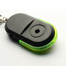 Whistle Sound LED Light Anti-Lost Alarm Key Finder Locator Keychain Device whistle sound LED light locator keychain(China)