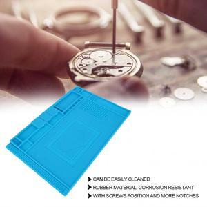 Image 2 - Alfombrilla de goma multifuncional para reparación de relojes, almohadilla de mesa para mantenimiento de electrónica, herramienta de reparación de relojes