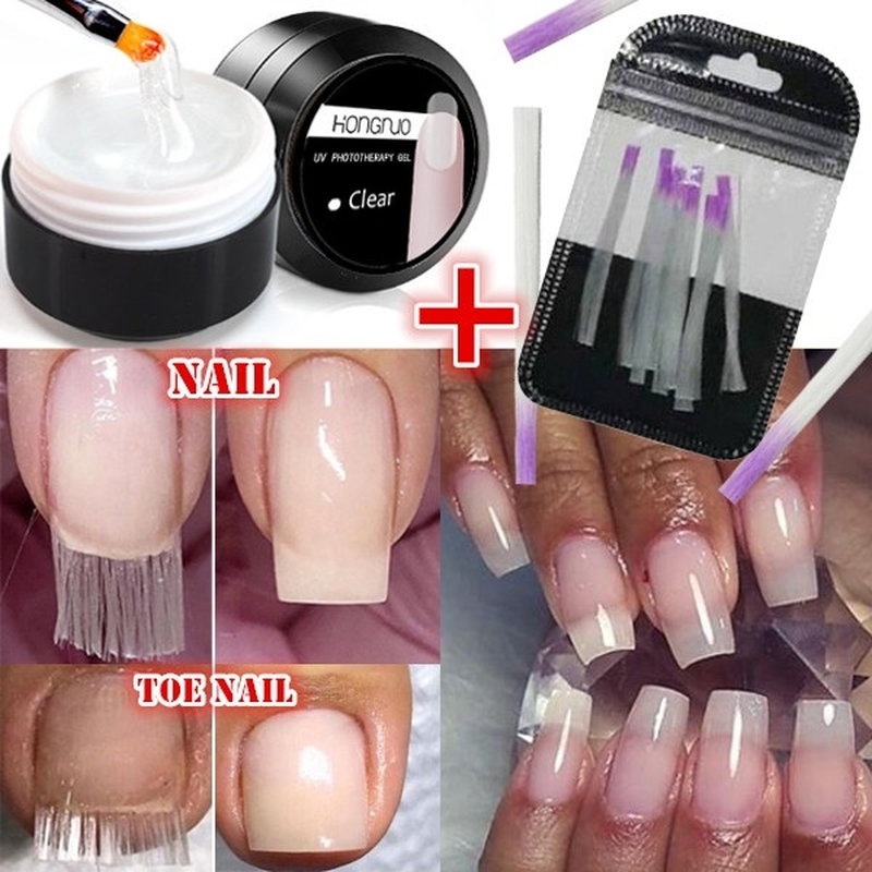Acrylic Fiberglass Nails Art Kit Uv Gel Nail Polish Poly Gel Set Builder Gel Nail Polygel Nail Extension Kits