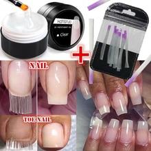 цена на Acrylic fiberglass nails art kit uv gel nail polish poly gel set builder gel nail polygel nail extension kits