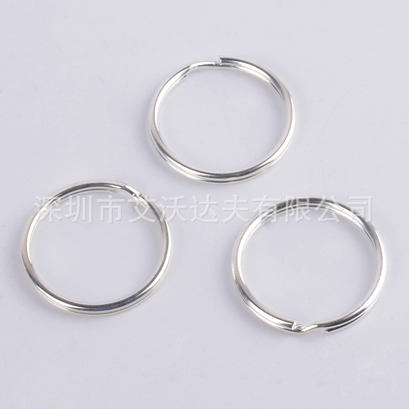 Manufacturers Supply 925 Iron Silver-plated Color 21.5X2. 4mm Key Ring Hanging Aperture Metal Ring Key