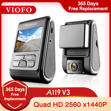 Viofo A119 V3 2K 60fps Auto Dash Cam Super Nachtzicht Quad Hd 2560*1600P Auto Dvr met Parking Mode G-Sensor Optioneel Gps