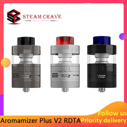 Original Steam Crave aromatizer Plus V2 RDTA Basic/Advanced Kit atomizador de llenado superior 8,0 ml/16,0 ml con tanque de vaporizador de Punta 810