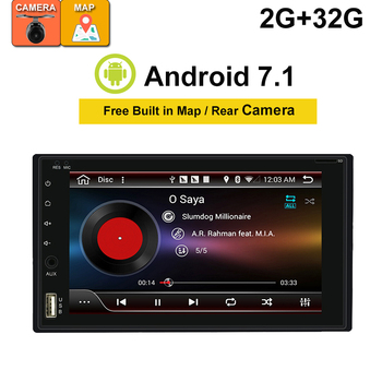 2 Din Android Car Radio Multimedia Player Universal Autoradio Stereo Audio HD Screen GPS Navigation NO DVD Free camera image