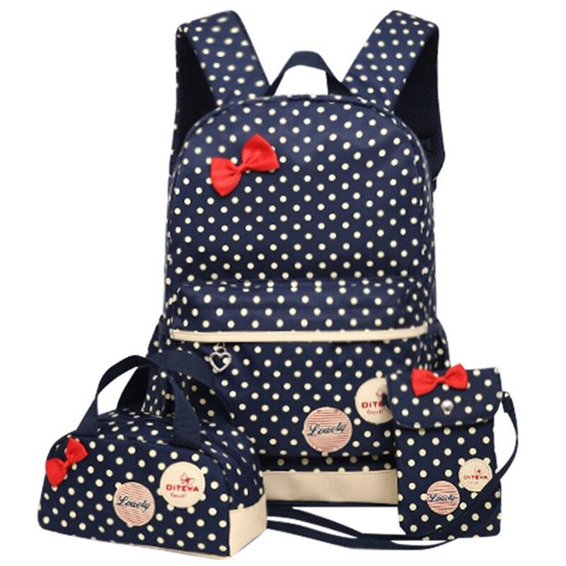 Printing School Bags For Girls Kids School Backpack 3pcs/set Children Schoolbags Fashion Orthopedic Girl Backpacks WBS485