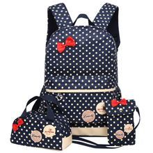 Printing School Bags For Girls Kids School Backpack 3pcs/set