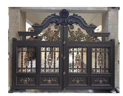 European Door Aluminium Iron Gate Design Barrier Gate With Remote Control Gate Lock