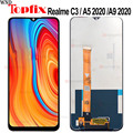 100% getestet Für OPPO Realme C3 RMX2027 LCD Display Touchscreen Digitizer Montage Oppo a5 2020 LCD Für Telefon 6.5