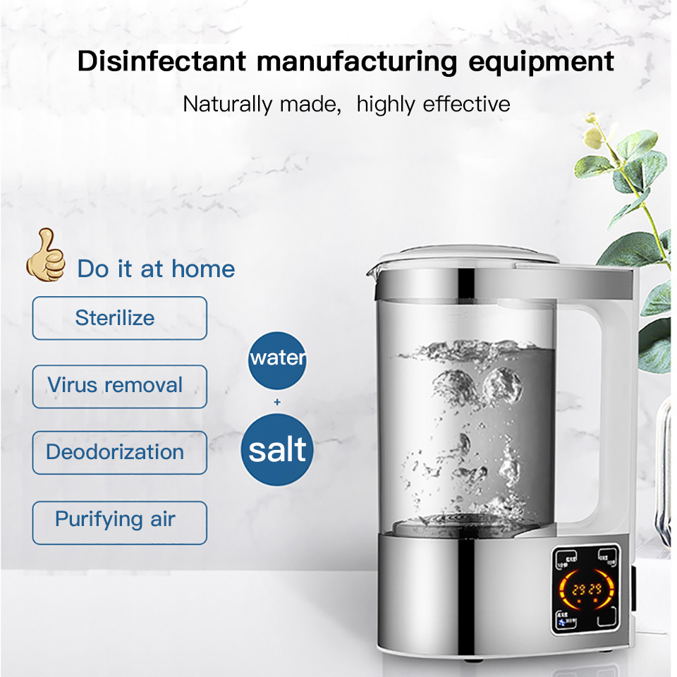 Original Hydrogen Water Disinfection Liquid Portable Cleaning Sterilization Sodium Hypochlorite Making Machine Protection Spray