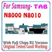 100% orijinal Samsung Galaxy Note 10.1 için N8000 N8010 anakart cips ab versiyonu için mantık kurulu N8000 N8010 moterboards