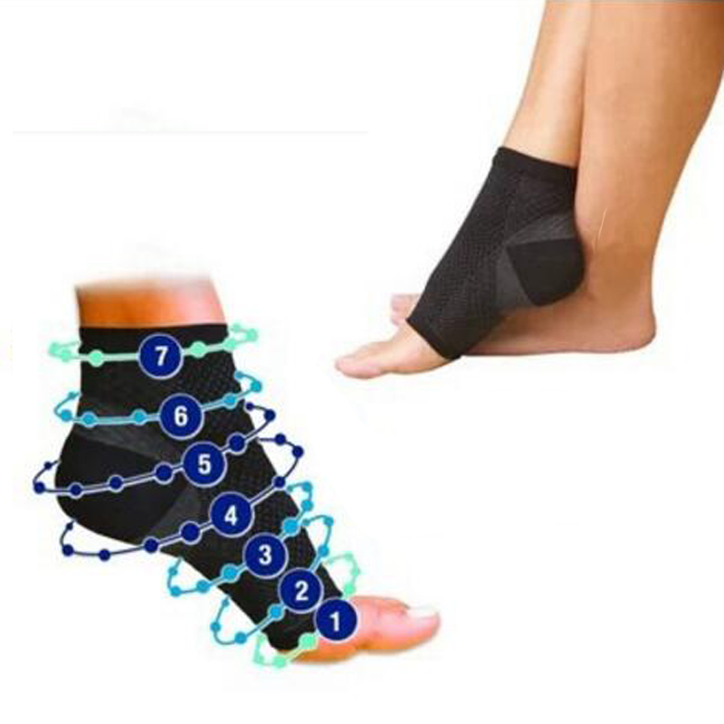 1 Pair Foot Angel Anti Fatigue Outerdoor Men Socks Compression Breatheable Foot Sleeve Support Socks Men Brace Sock
