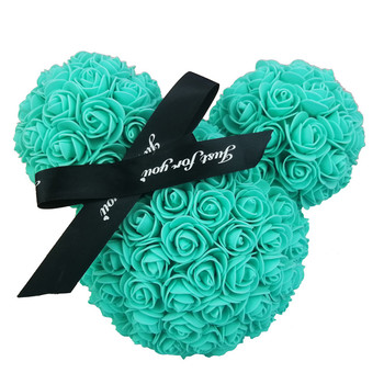 цена на 8 Colors HOT Valentines Day Gift 20cm Rose Mickey Rose Flower Artificial Decoration Christmas Gifts Women Valentines Gift