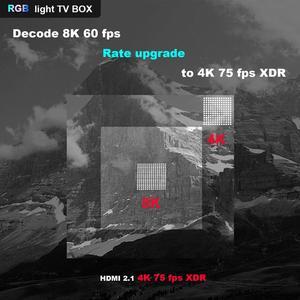 Image 3 - A95X F3 RGB אור טלוויזיה תיבת Amlogic S905X3 אנדרואיד 9.0 4GB 64GB תמיכה כפולה Wifi 8K 60fps plex Media שרת A95XF3 סט Top Box
