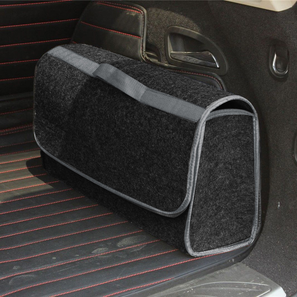 Felt Cloth Trunk Cargo Organizer Foldable Caddy Storage Collapse Bag Bin For Car Truck SUV