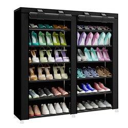 Moda minimalista criativo não-tecido duplo-fileira casa sapatos organizador sapatos modernos armário sapatos multi-purpose sapatos rack