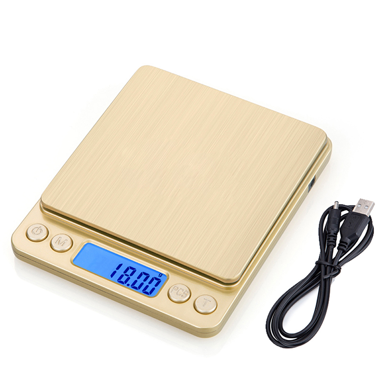 Jewelry Scale 3kg/0.1g USB LCD Digital Electronic Weighing Scale High Precision Jewelry Grams Weight Balance Scale for Kitchen