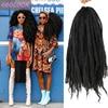 Afro Kinky kıvırcık toplu saç kadınlar için 18 inç Ombre kahverengi sarışın böcek Marley örgüler saç sentetik tığ örgü örgü postiş